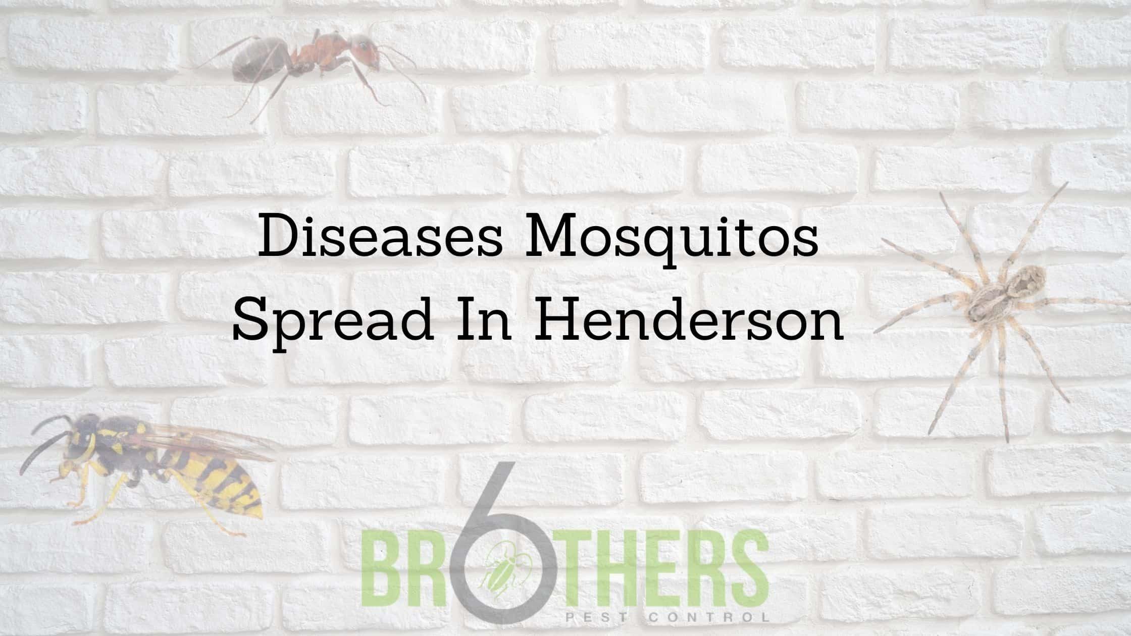 Diseases Mosquitoes Spread In Henderson