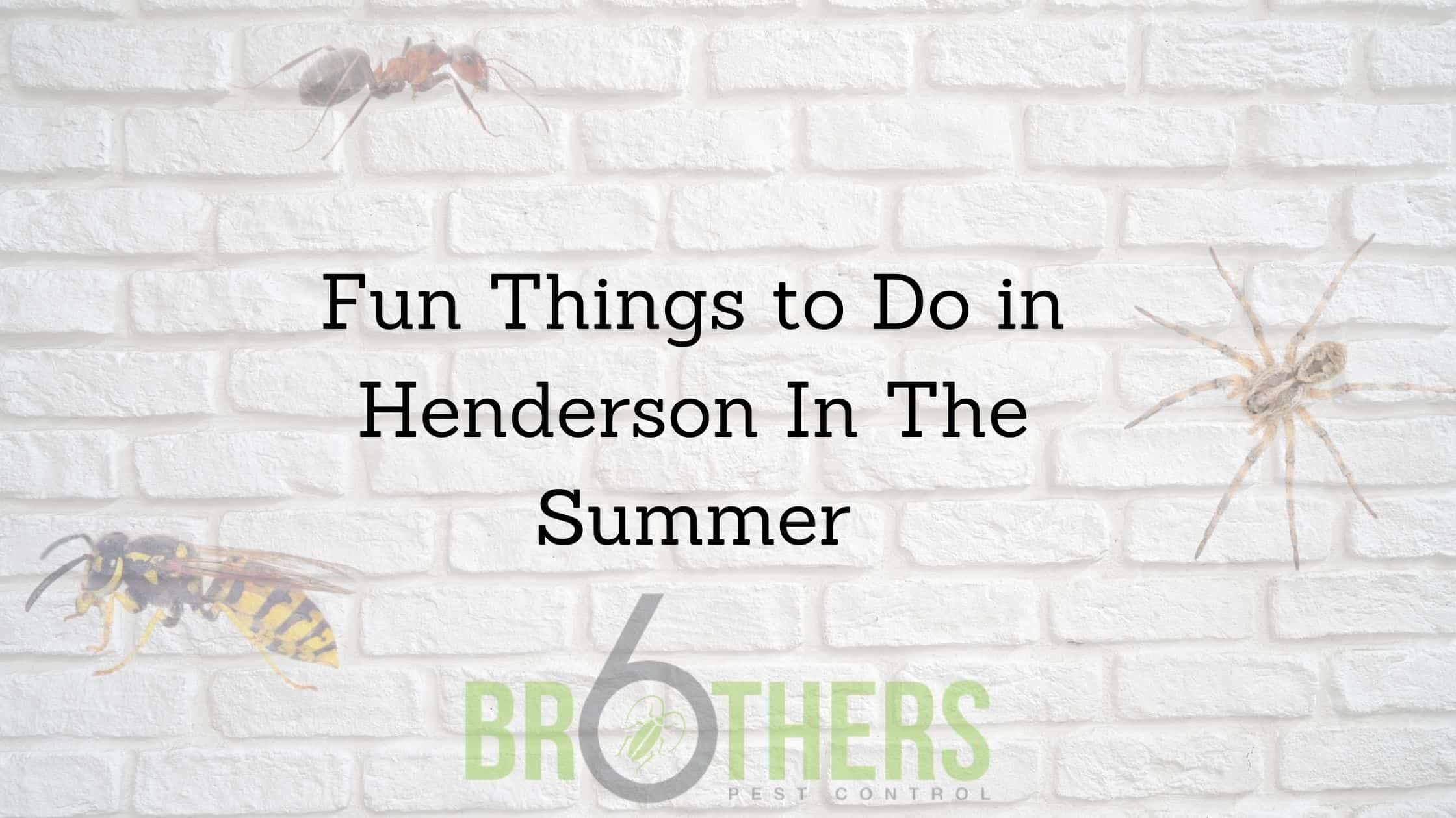 Fun Things to Do in Henderson In The Summer